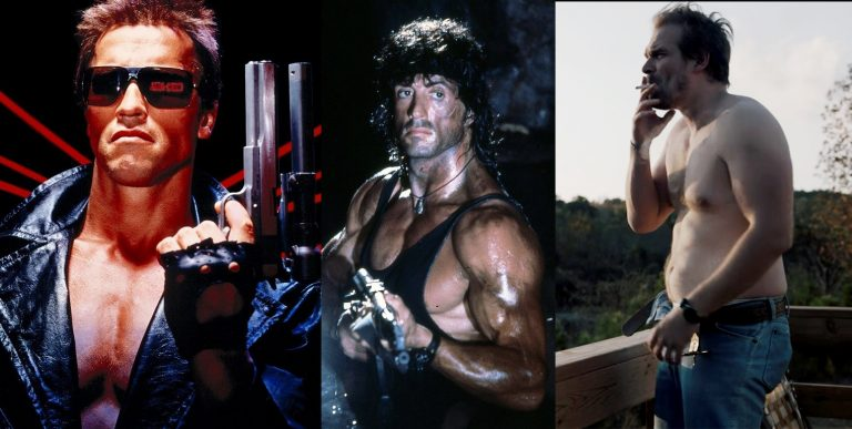 Banner image featuring the Terminator, Rambo, and Chief Jim Hopper